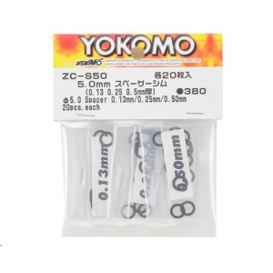 Yokomo 5mm Spacer Shim Set (0.13mm, 0.25mm & 0.50mm)