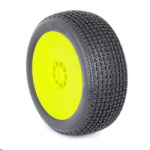 1:8 Buggy Catapult (Soft - Long Wear) Evo Wheel Pre-Mounted Yellow