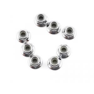 Traxxas 4mm Steel Flanged Serrated Nylon Locknut (8)