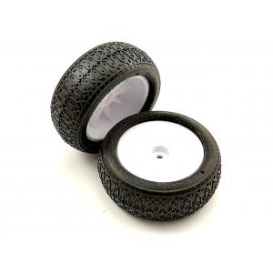 "Suklijuotos JConcepts Dirt Webs 2.2"" 4WD Front Buggy Tire (2) (Green)"