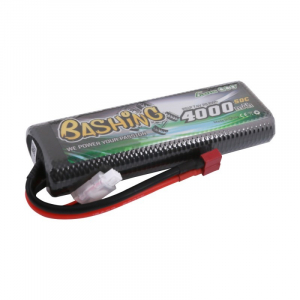 Gens ace bashing series 4000mAh 2S1P 7.4V 50C HardCase 8# car Lipo Battery pack with T-plug