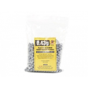HIGH PRECISION MADE 0.43G BB PELLETS (1000 ROUNDS, BAG) [GUARDER]