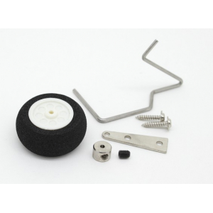 25mm Steerable Foam Tail Wheel Assembly