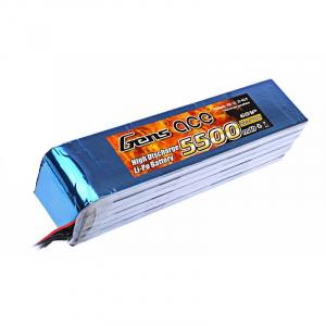 Gens ace 5500mAh 22.2V 25C 6S1P Lipo Battery akumuliatorius