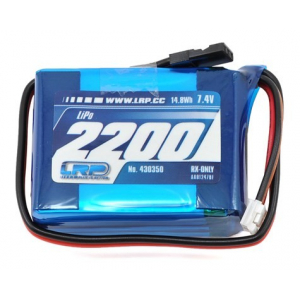 LRP VTEC 2S LiPo Hump Receiver Battery Pack (7.4V/2200mAh)
