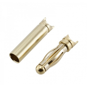 Gold (banana) connectors 4 mm (with cutout)