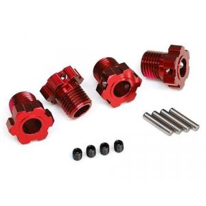 Traxxas 17mm Splined Wheel Hub Hex (Red) (4)