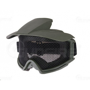 Tactical goggles with hood - Olv