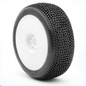 1:8 Buggy Impact (Super Soft - Long Wear) Evo Wheel Pre-Mounted White