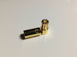 Male & Female 6.5mm Polarized Banana Gold Bullet Connector RC BatteryESC