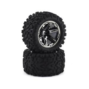 """Traxxas Talon EXT 2.8"""" Pre-Mounted Tires w/RXT Ratai (2) (Black Chrome)"""