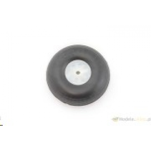 Rubber wheel with plastic rim. 63 mm - ECO