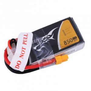 Tattu 850mAh 11.1V 75C 3S1P XT30 plug Lipo akumuliatorius