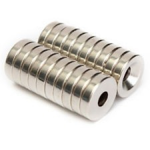 N50 12x3mm Strong Countersunk Ring Magnets 4mm Hole Rare Earth Neodymium