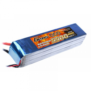 Gens ace 5500mAh 18.5V 25C 5S1P Lipo Battery akumuliatorius
