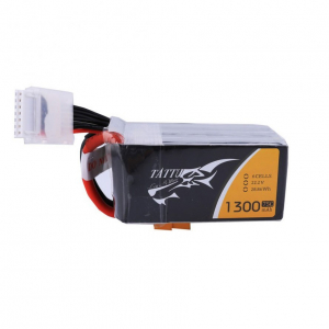 TATTU 1300mAh 6S1P 75C 22.2V Lipo Battery Pack with XT60 plug