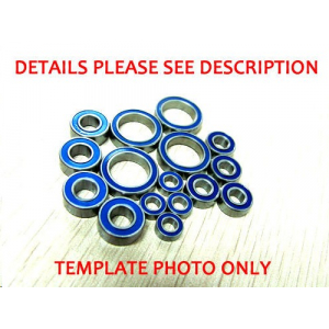 Xray XB9 Blue Rubber Bearing Full Set ABEC-3