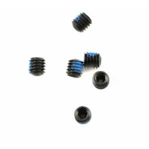 Traxxas Screws, Set (grub) 4mm (6) (w/ threadlock)
