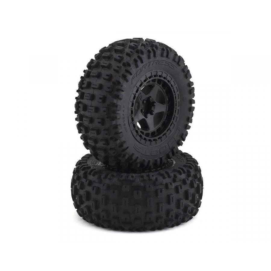 Arrma dBooots Fortress SC Tire Set Glued Black (2) (ARAC9630)