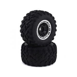 Traxxas Maxx All-Terrain Pre-Mounted Tires (Black/Chrome) (2)
