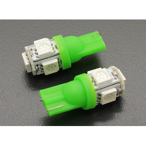 LED Corn Light 12V 1.0W (5 LED) - Green (2pcs)