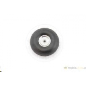 Rubber wheel with alu rim and Teflon hub 51 mm