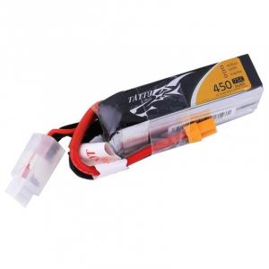 TATTU 450mAh 14.8V 75C 4S1P Lipo Battery Pack with XT30 plug--Long Size for H Frame
