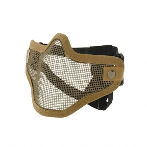 STEEL PROTECTIVE HALF FACE MASK V.1 - COYOTE [CS]