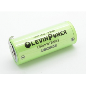 A123-3.3V Lithium Ion 2500mAh Single Cell Battery