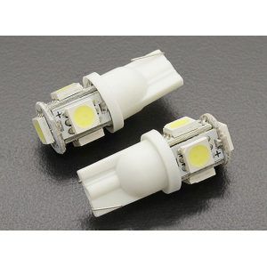 LED Corn Light 12V 1.0W (5 LED) - White (2pcs)