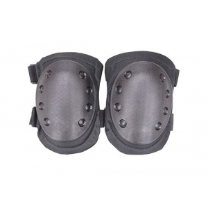 A set of knee protectors - black