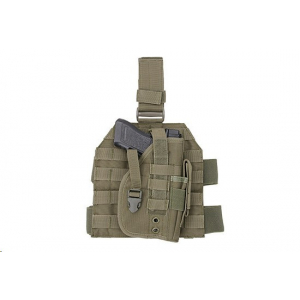 Leg panel with universal holster - olive