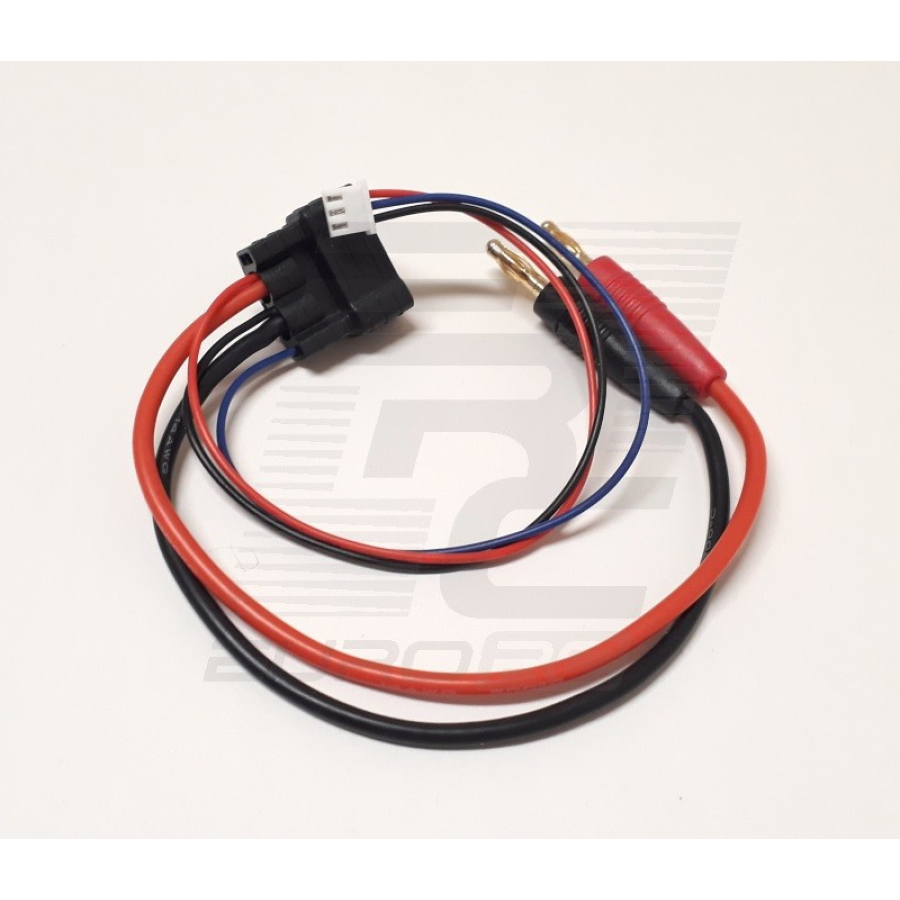 Traxxas ID Male To 4mm Bullet + XH - 2S - Charging Cable 20cm 14AWG EURO-1350-2