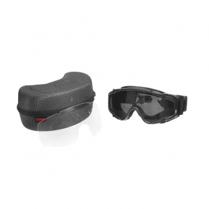 PROTECTIVE GOGGLE WITH HELMET MOUNT - BLACK [FMA]
