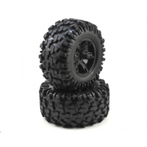 Traxxas X-Maxx Pre-Mounted Tires & Wheels (2) (8S Rated