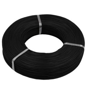 MSP juodas silikoninis laidas 9AWG 6.8mm2 1m (karpoomas)
