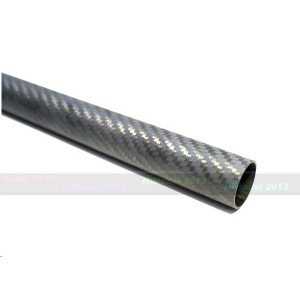D18xd16xL1000mm 3K pinto anglies pluošto vamzdelis