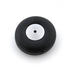 Rubber wheel 44 mm (aluminium rim)