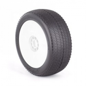 AKA 1:8 Buggy RASP (Soft) Evo Wheel Pre-Mounted White