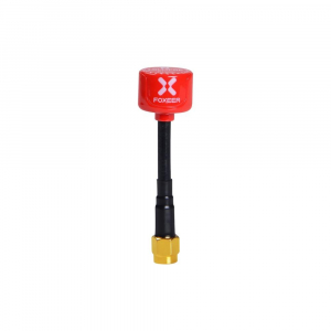 Foxeer Lollipop 5.8G RHCP Super Mini Antenna SMA Red (1vnt.)