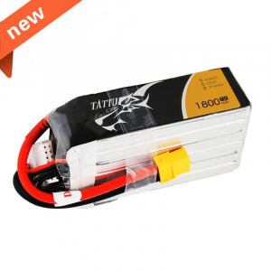 TATTU 1800mAh 22.2V 75C 6S1P Lipo Battery Pack