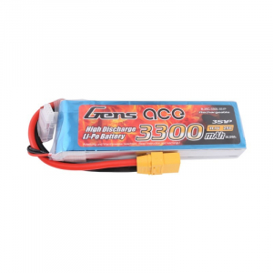 Gens ace 3300mAh 11.1V 25C 3S1P Lipo Battery Pack with XT90 plug