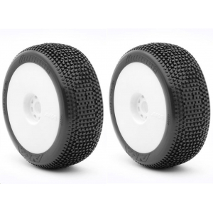 AKA 1:8 BUGGY IMPACT (MEDIUM - LONG WEAR) EVO WHEEL PRE-MOUNTED WHITE
