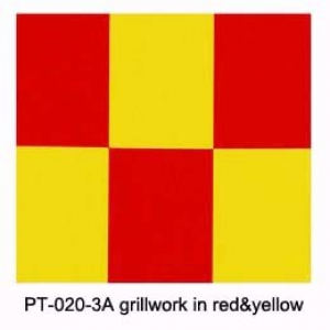 Grill-work grillwork in red&yellow(600mm*1meter)