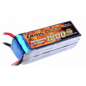 Gens ace 1800mAh 14.8V 40C 4S1P Lipo Battery Pack