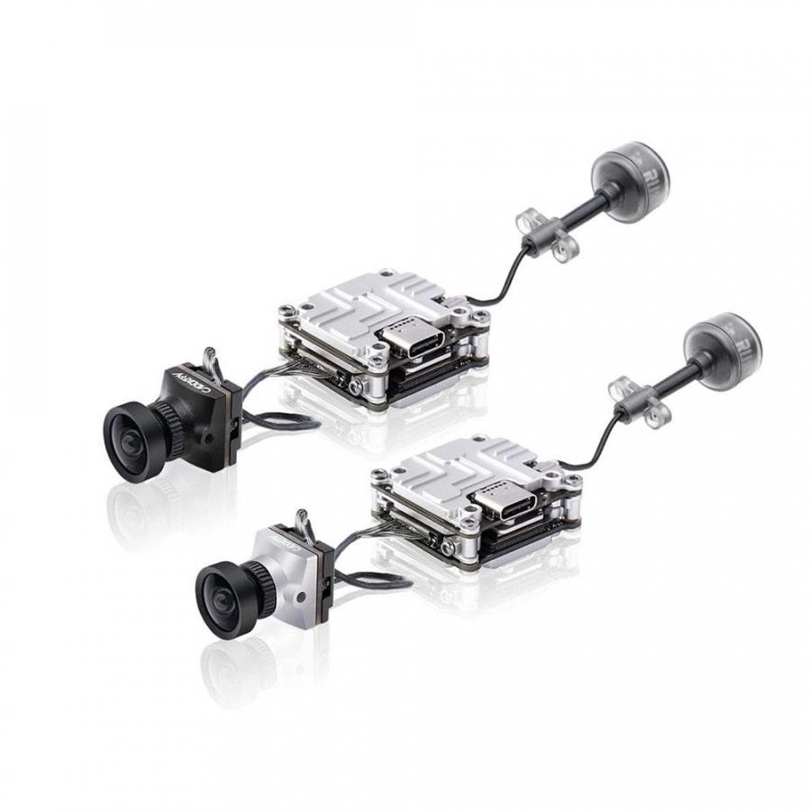 Caddx Nebula Nano V2 Digital FPV kamera rinkinys - (juoda/sidabrinė)