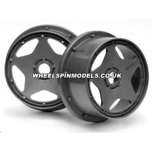 HPI Baja 5B Super Star Wheel - Gunmetal - Front - Pair