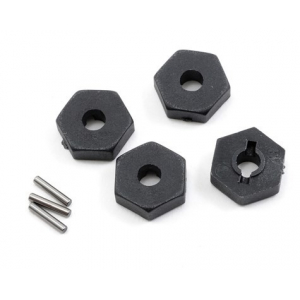 Traxxas 12mm Hex Wheel Hubs w/Axle Pins (4)