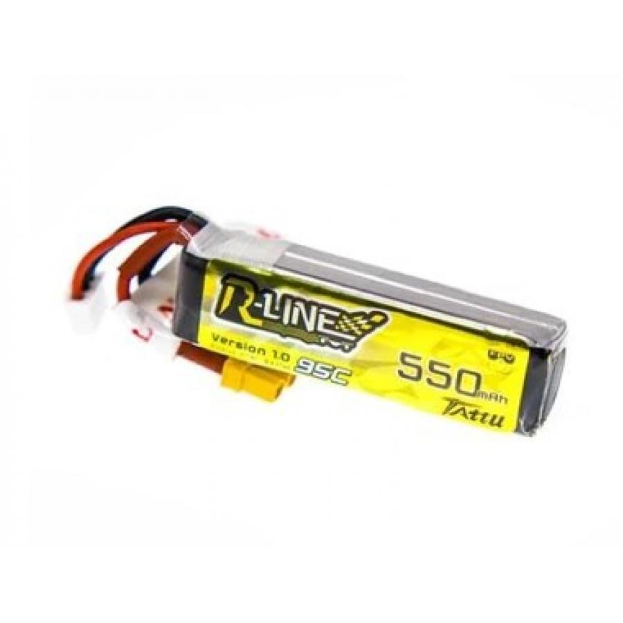 Tattu R-Line 550mAh 7.4V 2S1P 95C Lipo Battery