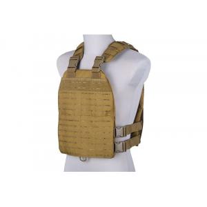 Laser-cut plate carrier type tactical vest - tan